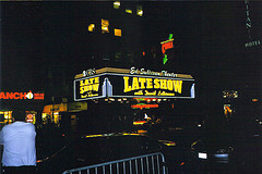 The Ed Sullivan Theater Night, With Its Illuminated Neon Marquee