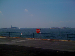 A Great View From Ellis Island. Don't Fall Over The Edge.