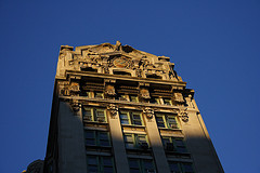 A Movie Like Look At Emigrant Savings Bank As The Sun Sets.