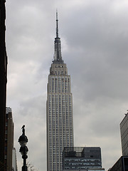 The Empire State Building On A Rainy Day