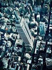 The Impressive Empire State Building Seen From A Helicopter Tour