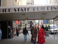 Two Women Enjoy The Empire State Building, Named After The Original Nickname For New York State.