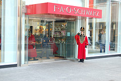 Toy Soldier Doorman At The FAO Schwarz Store In New York City