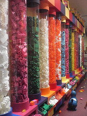 A Rainbow Of Legos In FAO Schwarz