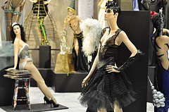 Mannequins Model Lingerie And Other Haute Fashion Within A Showroom Of The Fashion Institute Of Technology.