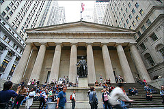 A Statue Outside Federal Hall Marks The Location Of The Inauguration Of Our First President.