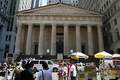 View Of The Federal Hall Building In New York City, Site Of George Washington's Inauguration
