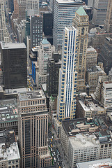 Aerial View Of Fifth Avenue New York City