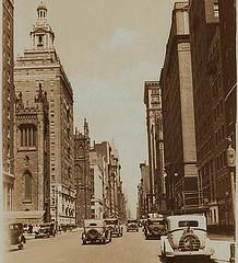 Fifth Avenue In Manhattan, New York City, Circa 1933.