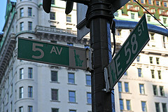 Fifth Avenue Is A Major Thoroughfare Through Manhattan.