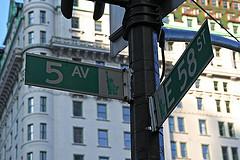 Fifth Avenue Is A Major Thoroughfare Through Manhattan.