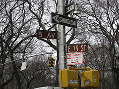 Fifth Avenue Is A Major Thoroughfare In The Center Of The Borough Of Manhattan In New York City, Usa.