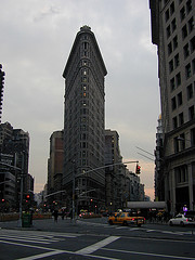 A View Of The Flatiron Building Near Sunset