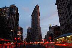 A Nighttime View Of The Flatiron Building.