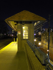 Forest Hills Lira Station Lights Up Beautifully At Night.