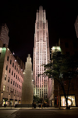 The Appearance Of The Gem Building Is Visible By The Lights Of In front Tower.