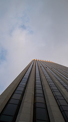 Looking Up The Impressive  General Motors Building In The Evening