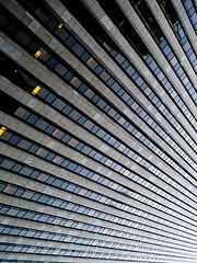 Vertigo, An Abstract View Of The General Motors Building In The Heart Of Manhattan