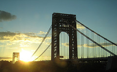 Beautiful George Washington Bridge Was Captured In My Camera At Dawn