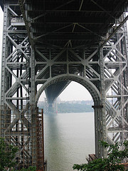 The Underside Of The George Washington Bridge, An Atypical View Of This Dramatic Suspension Bridge