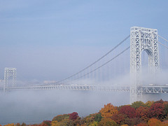 A Foggy View Of The George Washington Bridge