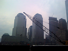 Foggy Morning In Front Of The Goldman Sachs Building
