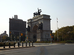 Looking Across The Street At The Soldiers' And Sailors' Arch At Grand Army Plaza
