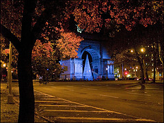 So Peaceful And Beautiful Is Grand Army Plaza This Night.