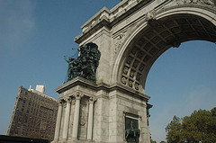 Triumphal Arch On Brooklyn's Grand Army Plaza