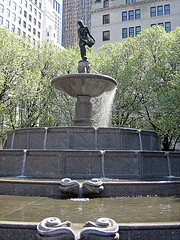 The Pulitzer Statue Is Found In The Grand Army Plaza In Central Park