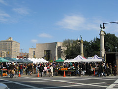 Grand Army Plaza Is Also The Name Of A Plaza Is Full Of Crowd For Doing Shopping.