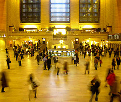 People Pass Through Grand Central Terminal.