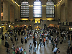 A View Of A Crowded Grand Central Terminal