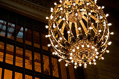 A Globe Lighting Fixture In Grand Central Terminal, A Building Full Of Architectural Wonders