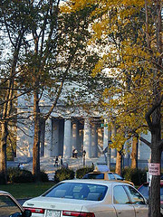 A View Through The Trees Of Grant's Tomb.