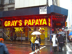Gray's Papaya The Famous Hot-dog Restaurant On The West Side Of Manhattan