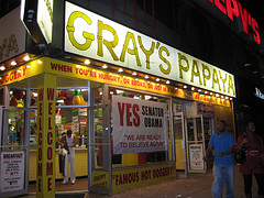 Gray's Papaya Is A Known Supporter Of Obama
