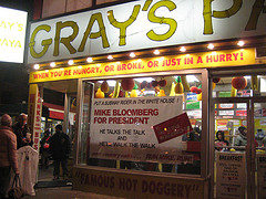 Gray??s Papaya Is Known For Both Its Inexpensive Hot Dogs And Refreshing Fruit Smoothies.