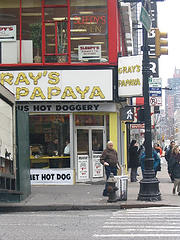 Gray's Papaya, Known For Their Hotdogs, Has 4 24-hour Locations On The West Side Of Manhattan.