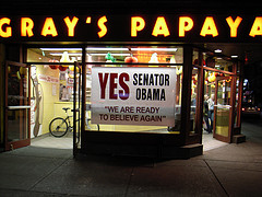Gray's Papaya Gives Its Nod To Presidential Candidate Obama