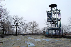 This Is The Only Fire Watchtower Surviving One Of Eleven Cast-iron Watchtowers Placed Throughout New York City