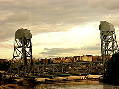 The Harlem River Bridge Is An Old Railroad Swing Bridge That Is No Longer Existent