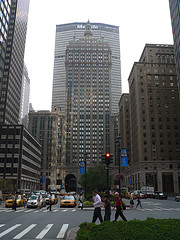 The Helmsley Building Looms Over Park Avenue (in The Shadow Of The Met Life Building)