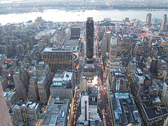A Shot Of Herald Square From The Air.