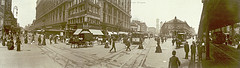 Herald Square In The Heyday Of The New York Trolley