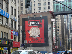 Large Advertisement In The Middle Of Herald Square