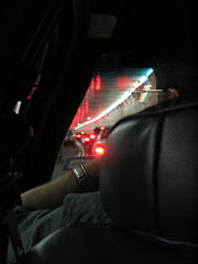 Waiting In Traffic In The Holland Tunnel Between Manhattan And New Jersey