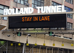 Staying In Your Lane Is Important When Driving In The Holland Tunnel