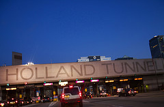 Traffic Still A Little Backed Up At Holland Tunnel.