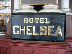 Black Sign Outside The Hotel Chelsea